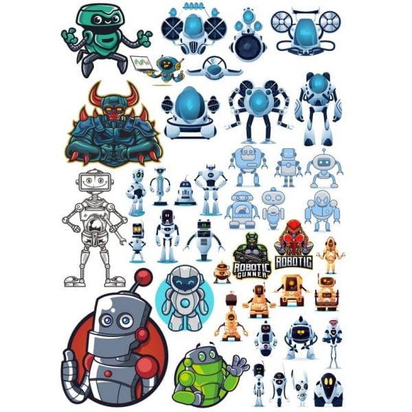 Векторные рисунки роботов