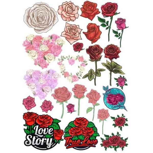 Векторные рисунки роз
