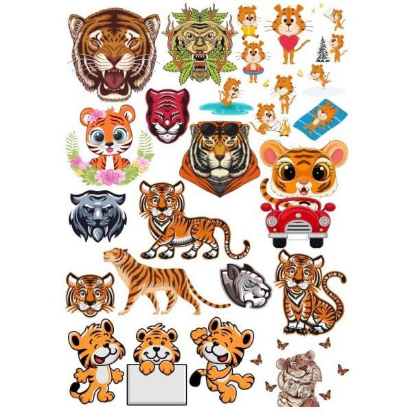 Рисунки тигров 2