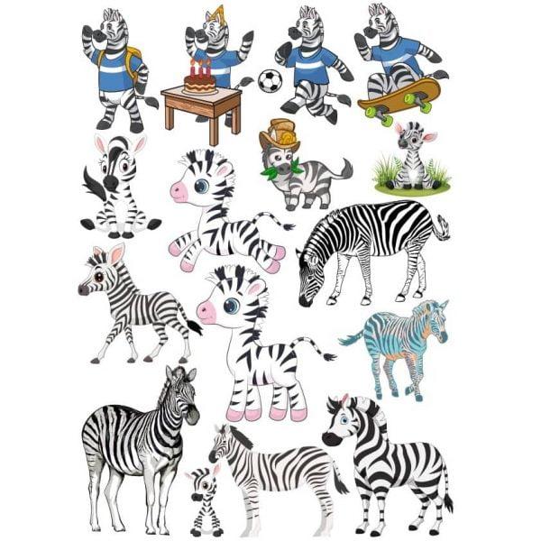 Рисунки зебр