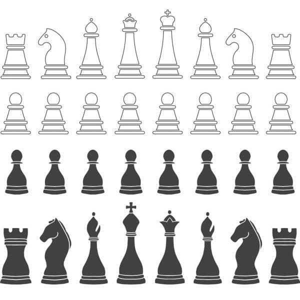 Векторный рисунок шахмат