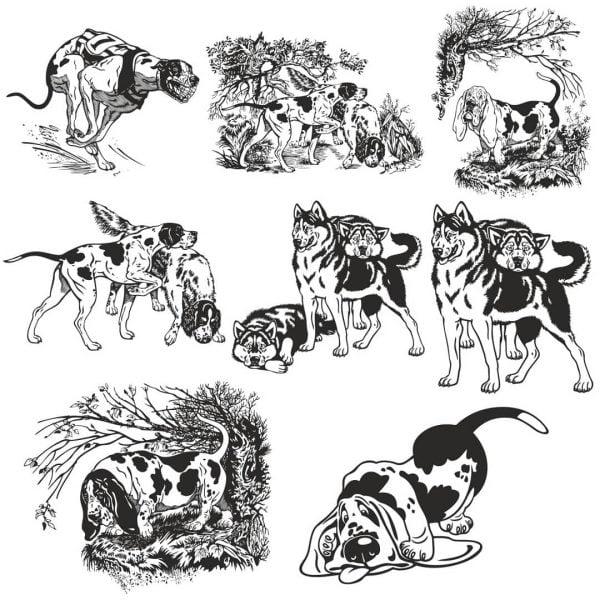 Сборник рисунков собак
