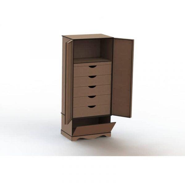 Шкафчик с полками макет