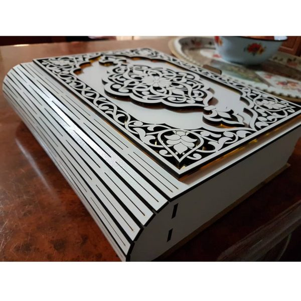 Макет шкатулки книги с узором