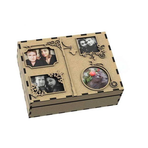 Макет шкатулки с 4 фото