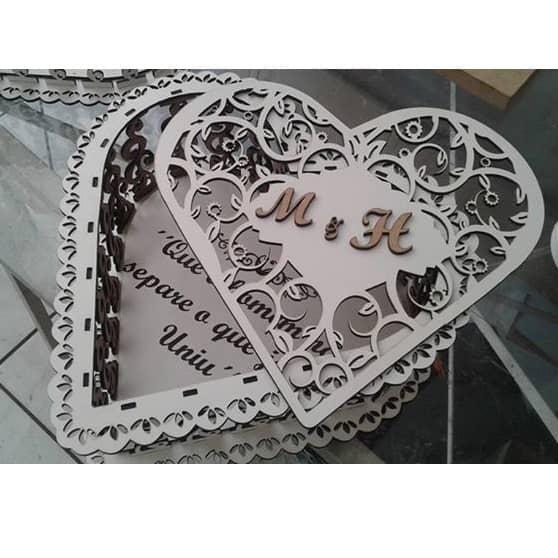Шкатулка сердце 6 макет