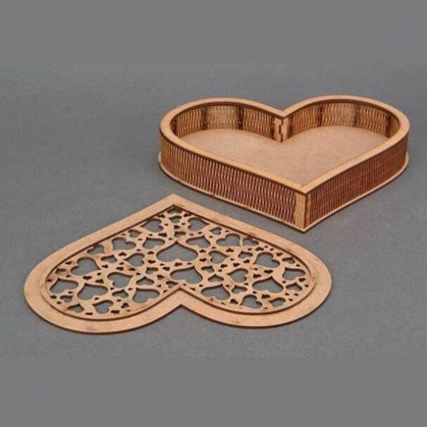 Макет шкатулки сердца 5