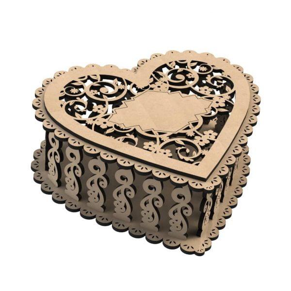 Шкатулка сердечко макет