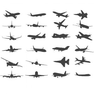 Силуэты самолётов