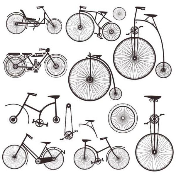 Силуэты велосипедов 2