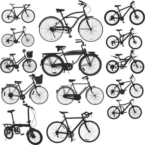 Силуэты велосипедов 3