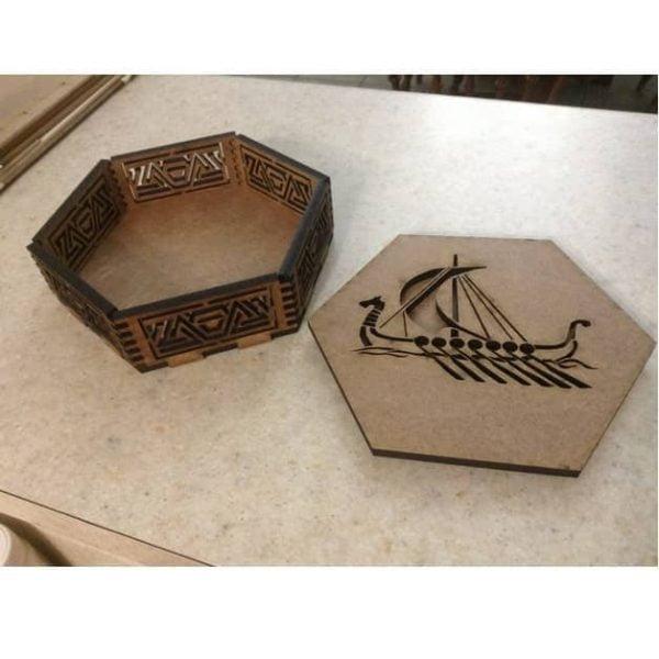 Восьмиугольная шкатулка Викинги