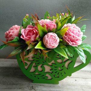 Чашка для цветов макет