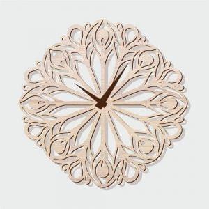 Часы цветочный узор