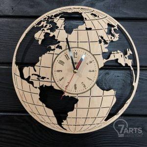 Часы глобус макет