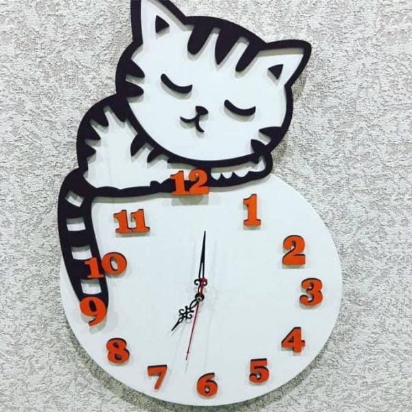 Часы с котёнком в детскую