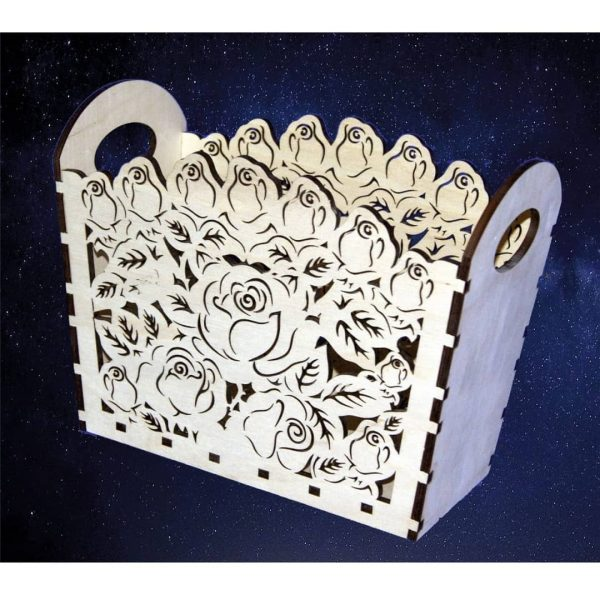 Цветочная корзинка 2 макет