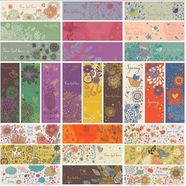 Цветочные баннеры и фоны