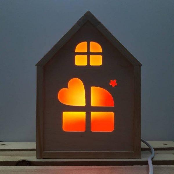 Декоративный домик ночник