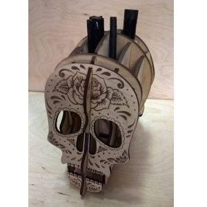 Карандашница череп макет
