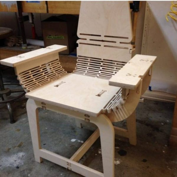 Макет кресла из фанеры