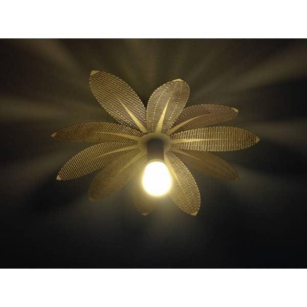 Лампа цветок макет