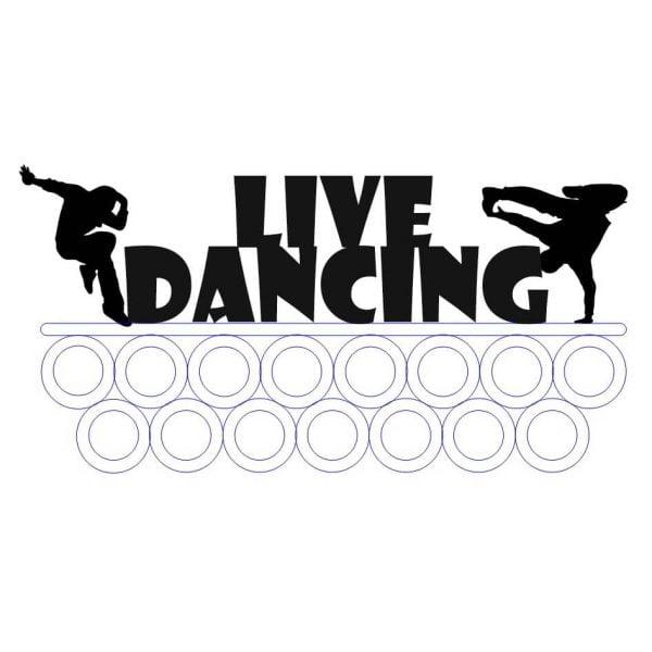 Медальница Live Dancing макет