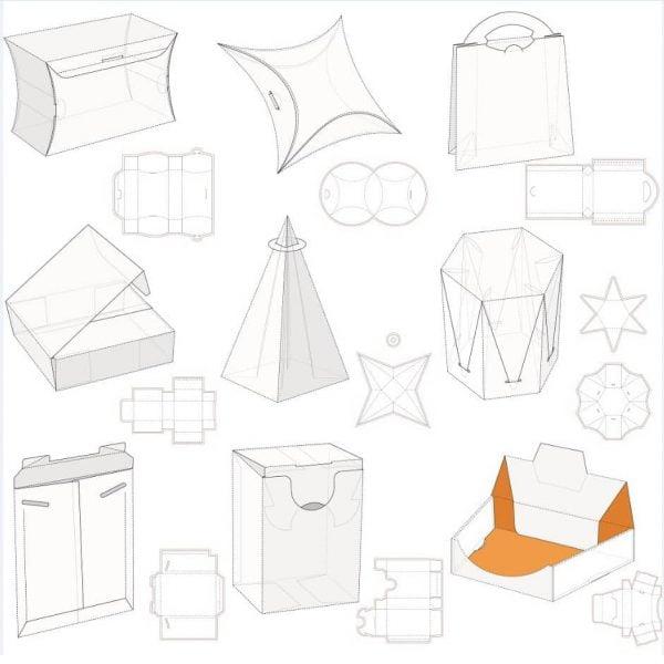 Набор макетов коробок 1