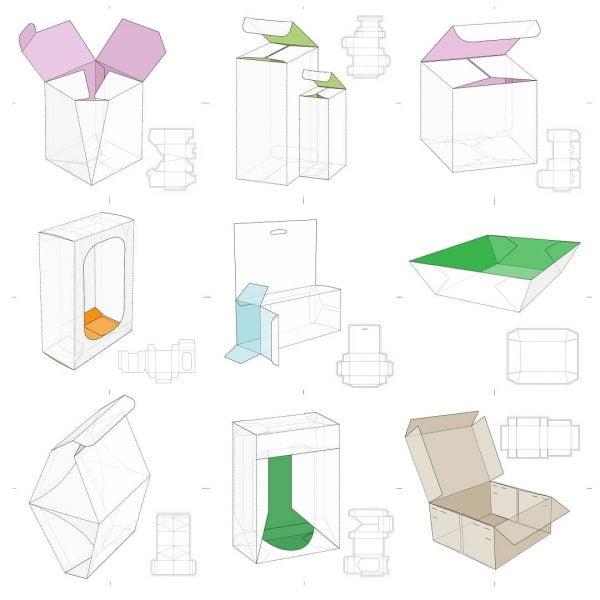 Набор макетов коробок 10
