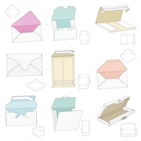 Набор макетов коробок 12