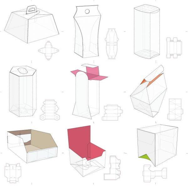 Набор макетов коробок 5