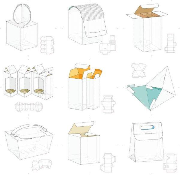 Набор макетов коробок 6