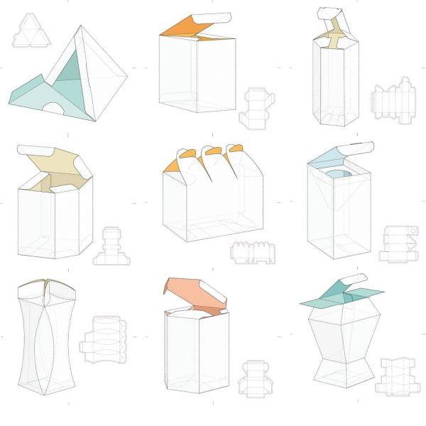 Набор макетов коробок 7