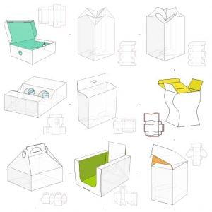Набор макетов коробок 8