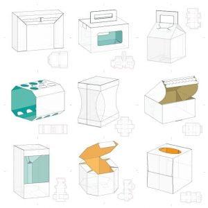 Набор макетов коробок 9