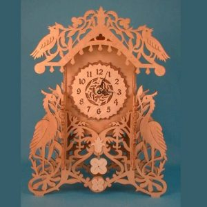 Настольные часы с птицами