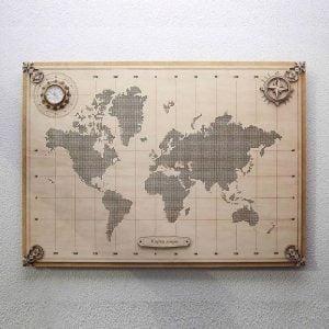 Панно карта мира макет