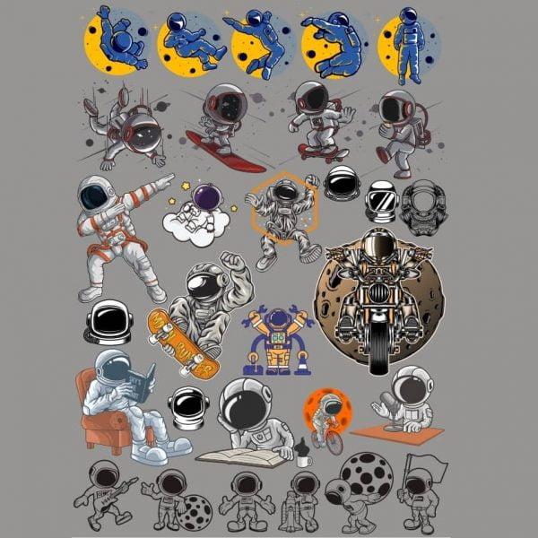 Рисунки астронавтов