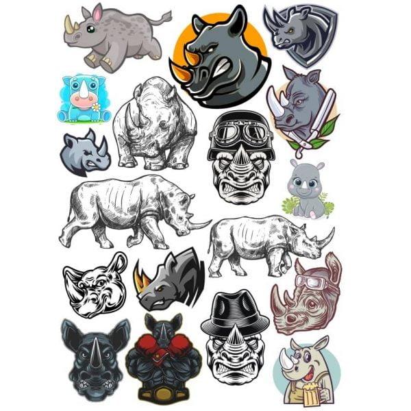 Рисунки носорогов