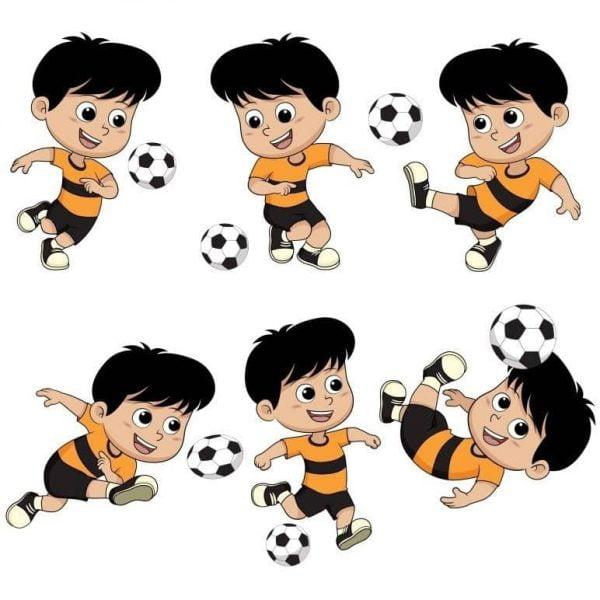 Рисунки футболистов