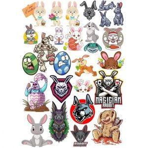 Рисунки кроликов