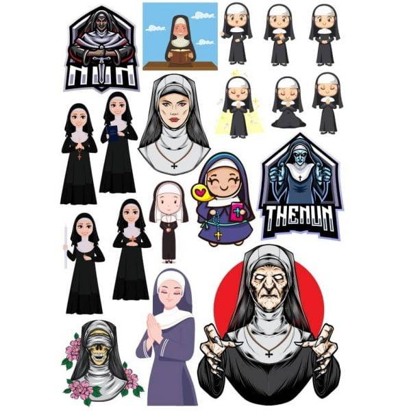 Рисунки монашек