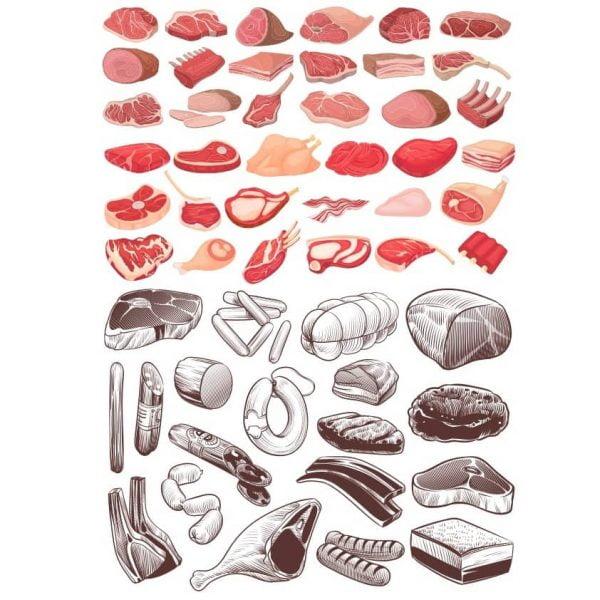 Рисунки мяса