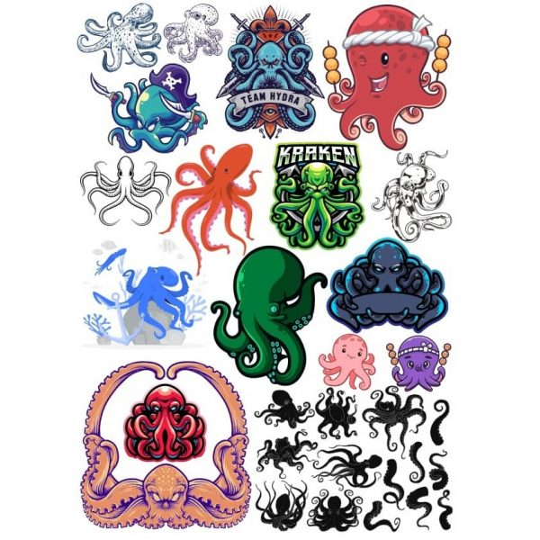 Рисунки осьминога