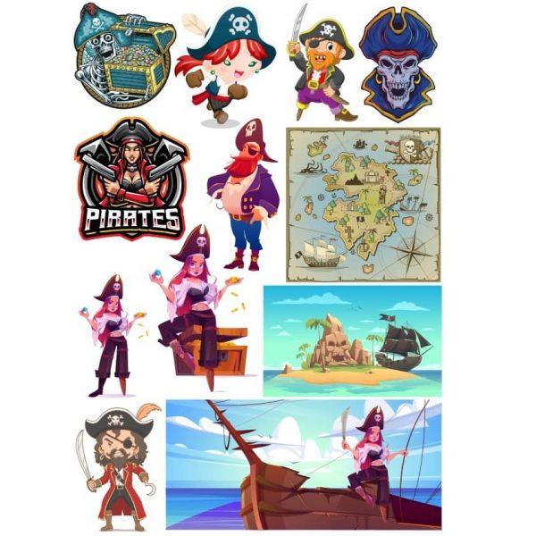 Рисунки пиратов