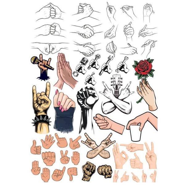 Рисунки рук