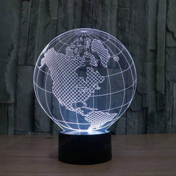 Светильник земной шар макет