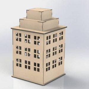 Здание 3 этажа с мансардой