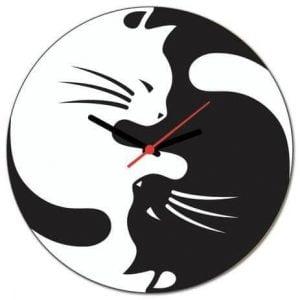 Часы коты инь янь