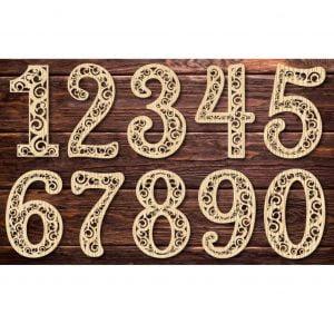 цифры с узором